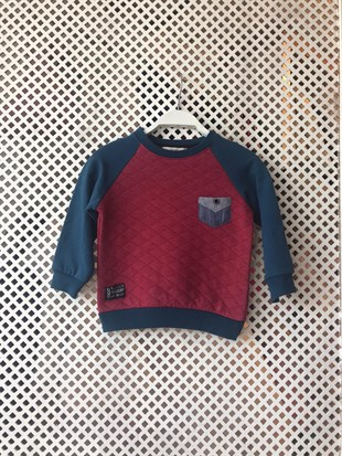 Cepli Kapitoneli Bordo Bebek Sweat